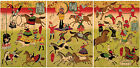 3 Japanese Art Prints Circus Acrobats Wall Poster Home Decor Utagawa Hiroshige