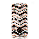 DYEFOR PERSONALISED CUSTOM MARBLE INITIAL NAME PHONE CASE COVER FOR APPLE IPHONE