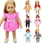 "Cute Floral Dress Doll Clothes Handmade Costume For 18"" Doll DIY Gifts 16 Colors"