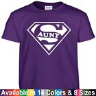 funny mothers day gifts - SUPER AUNT Funny Auntie Mothers Day Birthday Christmas Shower Gift Tee T Shirt