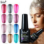 Belen Nail Gel Polish LED Soak Off Platinum Shimmer Bling Colors Base Top Coat