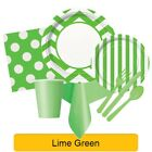 LIME GREEN Party Tableware - Disposable Birthday Supplies Event Decorations