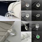Wish Glass Dandelion Seed Bottle Silver Chain Xmas Gift Jewelry Pendant Necklace