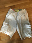 Hollister Men's Cargo Shorts Size 28 Tan Distressed GUC