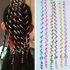 Spiral Plastic Coloured Hair Band Hairband Bobble Stretchy Toggle Elastic Curly