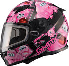 Gmax GM49Y Attack Youth Snowmobile Helmet Black/Pink