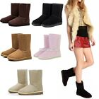 Comfort Winter Women Girls Ladys Mid Calf Warm Snow Boots Shoes 5 Colors Sizes02