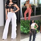 Women Beach Dress Mesh Sheer Bikini Cover Up Swimwear Bathing Suit Pants Trouser