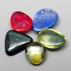 OUTSTANDING SET! 2.65ct.Multi Mixed Color Sapphire Africa Fancy Cabochon 5x4mm.