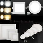 Dimmable LED Recessed Downlight Ceiling Panel Light Flat Wall Lamp + Driver Home