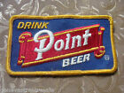 Vintage Drink Point Beer Avertising Delivery Driver Jacket Shirt Patch Wisconsin