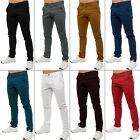 New ENZO Mens Stretch Slim Fit Branded Chinos Trousers Jeans Pants All Waist