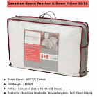 "New Hotel Quality Pure Canadian Goose Feather and Down Luxury Pillows 19""x 29"""