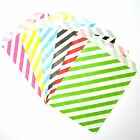 25 50 stripes paper lolly loot treat candy bags wedding birthday gift favour DIY