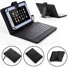 "Amazon Kindle Fire HD 7 8 10"" Fire 7 HDX 7 PU Leather Tablet Case Cover Keyboard"