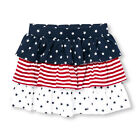 New TCP The Children's Place Girls July 4th Tiered Skort Skirt 4 14 year Ruffles