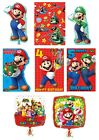 SUPER MARIO Bros Birthday Cards - Greetings Ages Party Bag Nintendo Gift Wrap