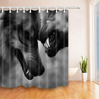 The Fierce Wolf Waterproof Fabric Home Decor Shower Curtain Bathroom Mat