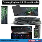 Usb Wired Backlit Gaming Keyboard Optical Pro Game Mouse & Xl Pad Bundle Set