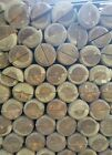 1.8m (6FT) x 100mm DIA, TREATED HALF ROUND & POINTED WOODEN TIMBER FENCE  POST