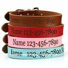 Custom Made Personalised Pet Dog Cat Collar Engraved With Name Phone Number