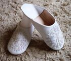 MOROCCAN * WHITE LEATHER SEQUINED SLIPPERS