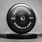 Rep Black Bumper Plates for Strength and Conditioning and Olympic Weightlifting