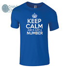 Keep Calm Age Is Just A Number Mens Funny Birthday Gift T-Shirt