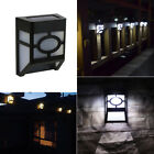 Solar Powered Wall Mount LED Light Outdoor Path Yard Garden Fence Landscape Lamp