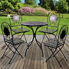 Marko Mosaic Bistro Set Outdoor Patio Garden Design Furniture Table and Chairs