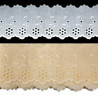 Cotton Chicken Embroidery Broderie Anglaise Lace Ribbon 70mm Wide M3929