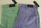 Polo Ralph Lauren Stretch Classic Fit Gingham Plaid Shorts Cotton Blend NWT $79