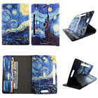 "TABLET STAND FOR 7 INCH 7"" ROTATING FOLIO PU LEATHER CASE COVER CARD CASH SLOTS"