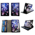 """TABLET CASE FOR 7 INCH 7"""" ROTATING FOLIO PU LEATHER  UNIVERSAL COVER CARD SLOTS"""