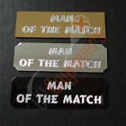 25 X MAN OF THE MATCH ENGRAVED PLAQUES FOR TROPHIES SELF ADHESIVE PLATES