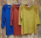 Holiday Shimmering Metalltic Tops Color and Choice Blue Red Gold 1XL 2XL 3XL