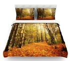 East Urban Home Autumn Leaves by Sylvia Cook Rustic Feath...