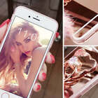 Mirror Fur Ball Tassels Soft TPU Ring Stand Case Cover for iPhone 7 Samsung S9