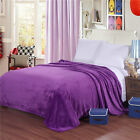 Home Bedding Blankets Solid Soft Warm Plush Flannel Sleep Flat Blankets Throws