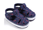 Newborn Baby Boy Soft Sole Navy Crib Shoes Toddler Summer Sandals Size 0-18 M