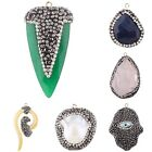 Charm Rhinestone/Resin/Pearl Pendant Jewelry Making Necklace Findings Decor DIY
