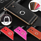 Hot Plating Bumper Soft Leather Finger Ring Holder Stand Case Cover for Xiaomi