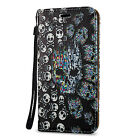Patterns Leather Flip Cover Wallet Case Stand W/ Strap For Samsung Galaxy Series