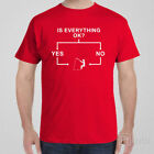 Funny T-shirt IS EVERYTHING OK? FLOWCHART - FISHING gift idea for men fishing
