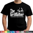 GRILLFATHER  Funny Fathers Day Christmas BBQ Barbecue Grill Dad Gift Tee T Shirt