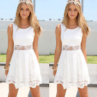 Summer Casual Sleeveless Party Evening Cocktail Lace Short Mini Dress Women