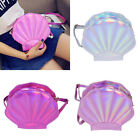 Shell Shape Holographic Shoulder Bag Crossbody Bag Clutch Laser Handbag Purse
