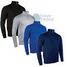 Mens Glenmuir Zip Neck Cotton Sweatshirt 1/4 Golf Clothing