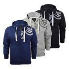 Mens Hoodie Crosshatch Goslio Zip Up Hooded Jacket Pullover Jumper Sweatershirt