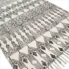 3 X 5, 4 X 6 Ft White Black Cotton Weave Hand Woven Area Rug Dhurrie Rag